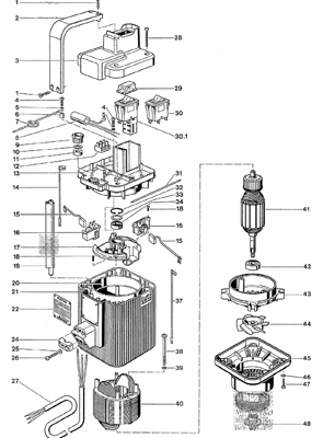 3. Крышка двигателя к универсальному электродвигателю MA II (с НВО)